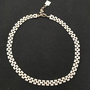"Anne Klein silver tone flat link 18"" necklace"